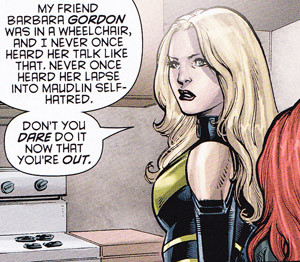 Black Canary is having none of it.